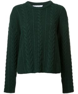 Ryan Roche | Cable Knit Cropped Jumper Womens Size Small Cashmere