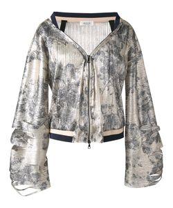 Aviù | Print Zip Up Jacket Womens Size 44 Polyester/Polyamide/Cotton/Spandex/Elastane