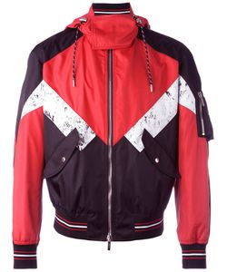 Dior Homme   Colour Block Hooded Jacket Mens Size 48 Polyamide/Polyurethane/Cupro