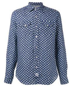 Hydrogen | Star Print Shirt Mens Size Large Linen/Flax