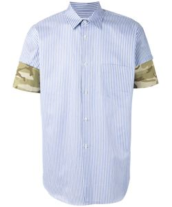 Comme Des Garçons | Shirt Camouflage Detail Striped Shirt Mens Size Xl