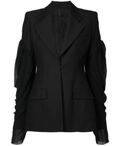 Vera Wang | Puff Sleeve Blazer Womens Size 4 Nylon/Wool/Cupro/Silk