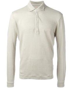 Massimo Alba   Long-Sleeve Polo Shirt Mens Size Small Linen/Flax