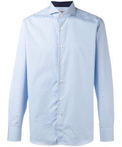 Canali | Checked Print Shirt Mens Size 40 Cotton