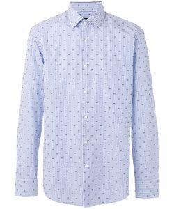 Boss Hugo Boss | Dots Print Striped Shirt Mens Size 42