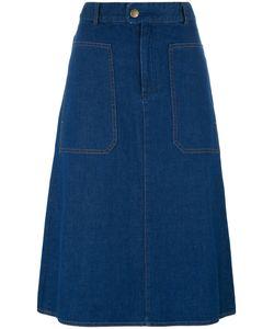 A.P.C. | Fla Denim Skirt Womens Size 38 Cotton