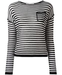 Barena   Striped Knitted Blouse Womens Size Large Virgin Wool/Silk/Cashmere