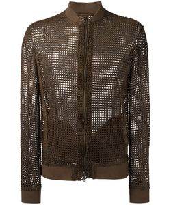 Salvatore Santoro | Interlaced Bomber Jacket Mens Size 52 Leather