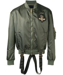Les Hommes | Strap Detail Bomber Jacket Mens Size 56 Polyester/Polyamide/Spandex/Elastane/Nylon
