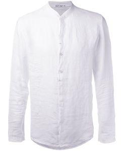 Transit | Collarless Shirt Mens Size Xl Linen/Flax