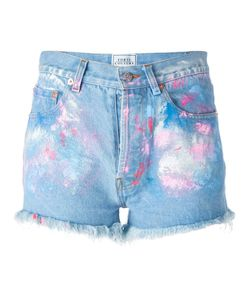 Forte Couture | Painted Denim Shorts Womens Size 25 Cotton