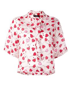 Diesel | Heart Print Blouse Womens Size Small Viscose