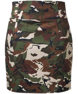 Alexandre Vauthier | Camouflage Fitted Skirt Womens Size 38 Cotton/Spandex/Elastane