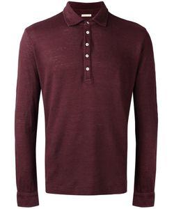 Massimo Alba   Longsleeved Polo Shirt Mens Size Large Linen/Flax