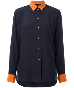 Paul Smith | Contrasting Detail Shirt Womens Size 46 Silk/Cupro