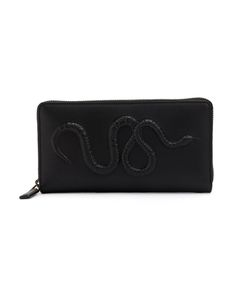 Gucci   Snake Embossed Zip Around Wallet Mens Leather