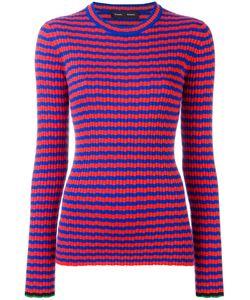 Proenza Schouler | Ribbed Striped Jumper Womens Size Large Silk/Cashmere