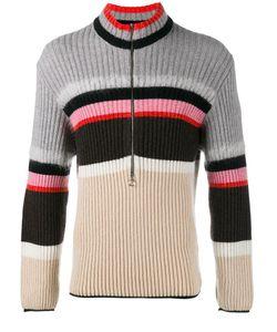 Helen Lawrence | Striped Half-Zip Jumper Mens Size Small Polyamide/Mohair/Wool/Lambs Wool