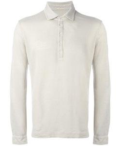 Massimo Alba   Longsleeved Polo Shirt Mens Size Medium Linen/Flax