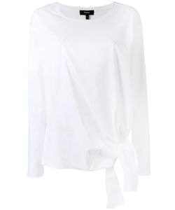 Theory | Knot Hem Top Womens Size Xs Cotton/Spandex/Elastane