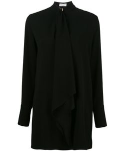 Sonia Rykiel | Long Pussy Bow Blouse Womens Size 46 Polyester/Triacetate