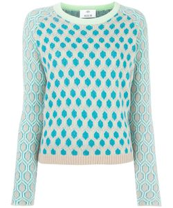 Allude | Honeycomb Pattern Jumper Womens Size Medium Cashmere