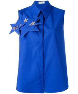 Delpozo | Stars Embellished Sleeveless Shirt Womens Size 36 Cotton