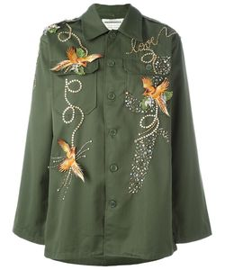 Night Market | Bird Embroide Jacket Womens Size Medium Cotton/Polyester/Metal/Glass