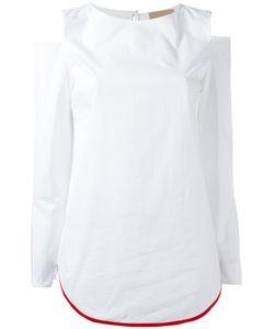 Erika Cavallini | Cut-Out Shoulders Blouse Womens Size 44 Cotton/Spandex/Elastane