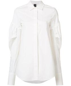 Vera Wang | Puff Sleeve Shirt Womens Size 2 Cotton