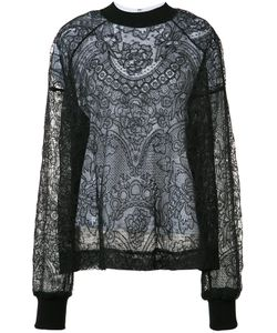 Vera Wang | Laye Lace Top Womens Size 4 Cotton/Silk/Nylon