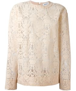 DKNY | Cut-Out Lace Sweater Womens Size Small Viscose/Nylon