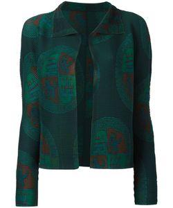 Issey Miyake Cauliflower | Patterned Open Cardigan Womens Polyester