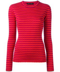 Proenza Schouler | Ribbed Striped Jumper Womens Size Small Silk/Cashmere