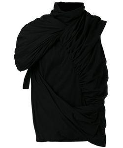 Rick Owens   Gathe Roll-Neck T-Shirt Mens Size Medium Cotton