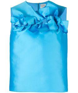 Maison Rabih Kayrouz   Ruffled Trim Top Womens Size 36 Silk/Polyester