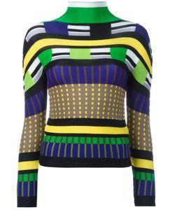 Issey Miyake Cauliflower | Patterned Turtleneck Jumper Womens Polyester