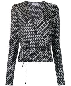 Carven | Striped Wrapped Blouse Womens Size 36 Silk