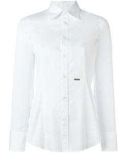 DSquared² | Logo Plaque Classic Shirt Womens Size 44 Cotton/Spandex/Elastane