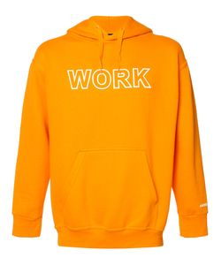 Andrea Crews | Work Print Hoodie Mens Size Medium Cotton/Polyester