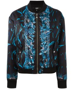 Versus | Printed Bomber Jacket Womens Size 40 Polyester/Viscose/Spandex/Elastane
