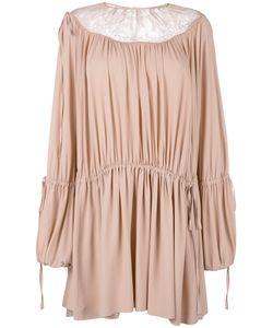 No21   Lace Insert Dress Womens Size 42 Silk/Acetate