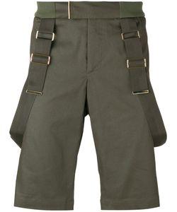 Les Hommes | Strap Detail Shorts Mens Size 44 Cotton/Spandex/Elastane/Nylon