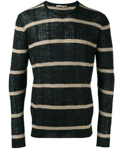Nuur | Striped Jumper Mens Size 52 Cotton/Linen/Flax/Polyester