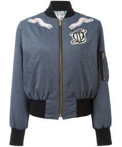 Olympia Le-Tan   Embellished Bomber Jacket Womens Size 34 Cotton