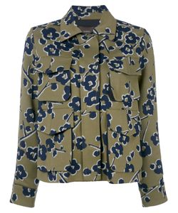 Odeeh | Print Fitted Jacket Womens Size 40 Cotton/Polyester