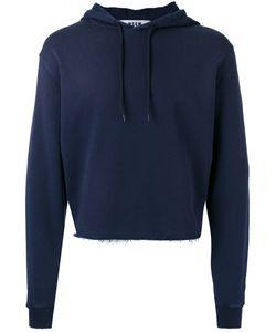 MSGM | Cropped Drawstring Hoodie Mens Size Large Cotton