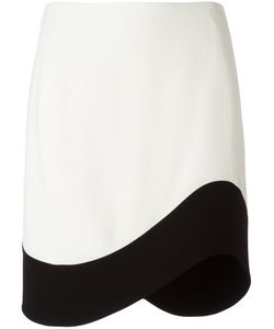Mugler | Curved Hem Skirt Size 42 Cotton/Polyamide/Viscose/Polyester