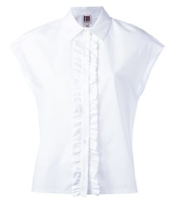 I'M Isola Marras | Frill Placket Shirt Womens Size 40 Cotton