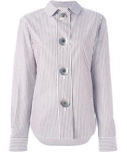 Ports   1961 Oversized Button Striped Shirt Womens Size 42 Cotton